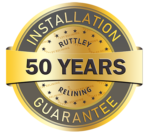 50 years Installation Guarantee with Pipe Relining | Ruttley Relining